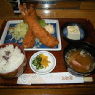 ジャンボえびフライ定食
