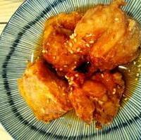 鶏のから揚げのてりやきソース