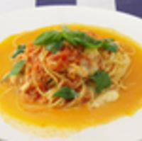 トマトとモッツァレラチーズとバジルのスパゲティ