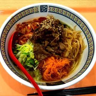 彩り野菜の焼肉冷麺