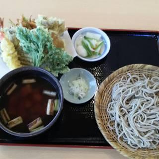 鶏南蛮蕎麦と天ぷら盛り合わせ