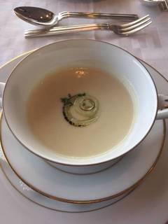 新玉葱のクリームスープ
