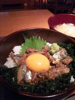 秋刀魚のづけ丼