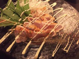 地鶏の贅沢彩りカルパッチョ