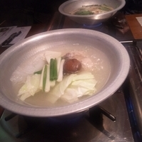お昼の水炊きコース