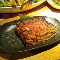 厚揚げの醤油炙り焼