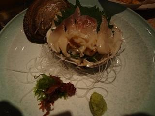活 北寄貝の刺身