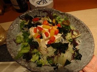 五種海藻とざる豆冨のヘルシーサラダ