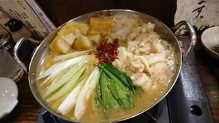 炒め味噌ホルモン鍋