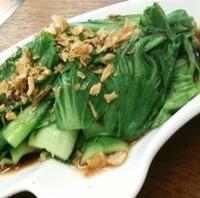 チンゲン菜のオイスターソース