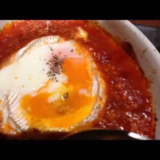 半熟卵とカマンベールチーズのグラタン