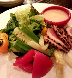 大中産野菜と鴨肉のバーニャカウダ
