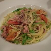 サルシッチャとフレッシュトマトのスパゲッティー