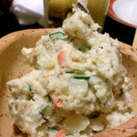 鯖のスモーク入りポテトサラダ