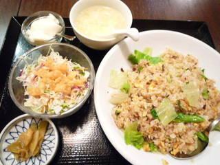 レタス炒飯定食