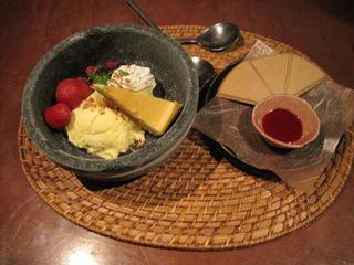 チーズケーキwithフリーズストーンアイス