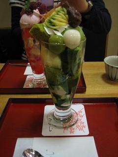 抹茶シフォンパフェ