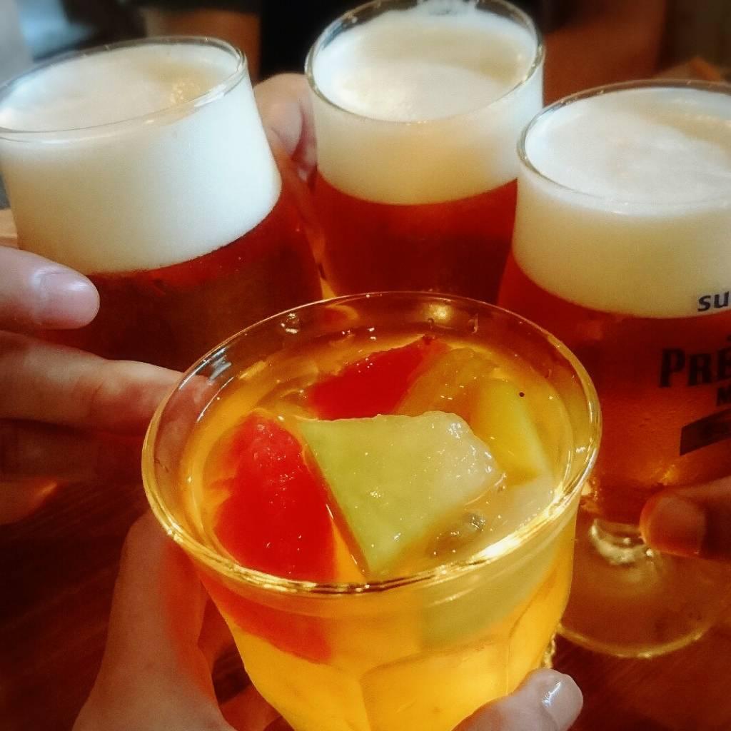 サングリア、生ビール
