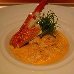 渡り蟹のトマトクリームのスパゲッティーニ
