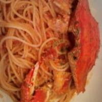渡り蟹入りトマトソース
