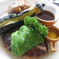 季節野菜ハンバーグ