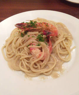 伊勢海老の殻から作った濃厚エビ味噌スパゲティ