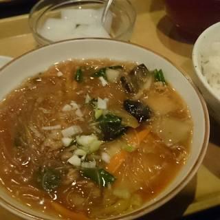 白菜と春雨炒め定食