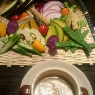 3500円コース 旬野菜のしゃぶしゃぶ