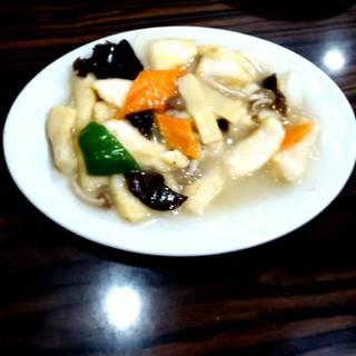 白身魚炒め