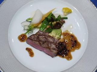 和牛ロース肉のグリエ