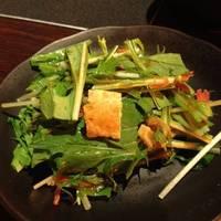 京菜とお揚げさんのサラダ