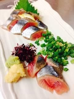生秋刀魚の刺身