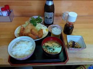 牡蠣フライ、鰺フライ 定食