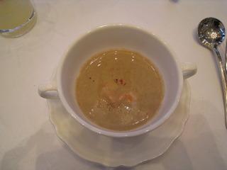 マッシュルームと甘海老のスープ