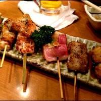 大山地鶏の焼鶏6本盛り合わせ