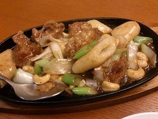 鶏肉ときりたんぽの中華炒め