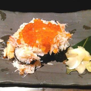 いくら 蟹 こぼれ寿司