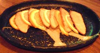 炙りサーモン柑橘風味