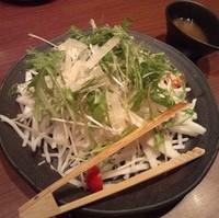 有機水菜と大根 長芋のシャキシャキサラダ