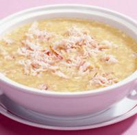 蟹肉入りとうもろこしとろみスープ