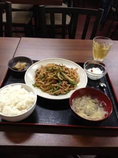 青椒肉絲定食