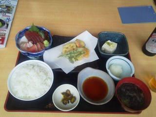 刺身と天ぷら定食