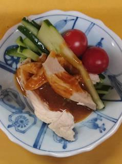 蒸し鶏の辛味ソース(バンバンジー)