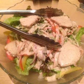 胸肉のバンバンジー風サラダ