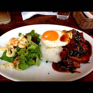 Grilled Chicken Loco Moco