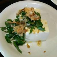 九条ネギのせ冷し豆腐