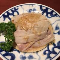 蒸し鶏ジンジャーソース