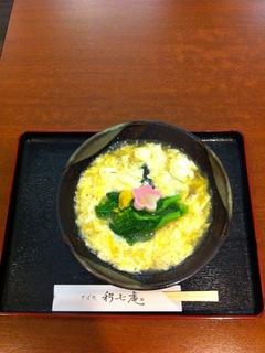 菜の花とじ蕎麦/利七庵