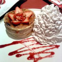 苺のブリュレ風パンケーキ