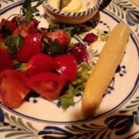 アスパラと海老名産トマトのサラダ